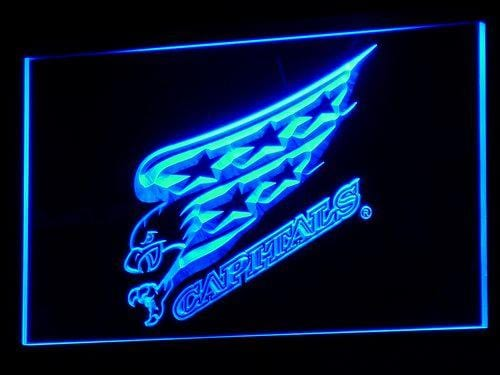 Washington Capitals Bar Beer NHL LED Neon Sign b105 - Blue