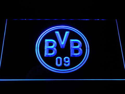 Borussia Dortmund BVB Crest LED Neon Sign b1062 - Blue