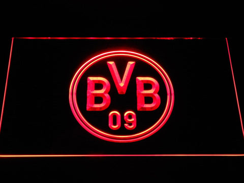 Borussia Dortmund BVB Crest LED Neon Sign b1062 - Red