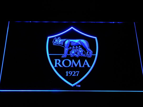AS Roma Football LED Neon Sign b1066 - Blue