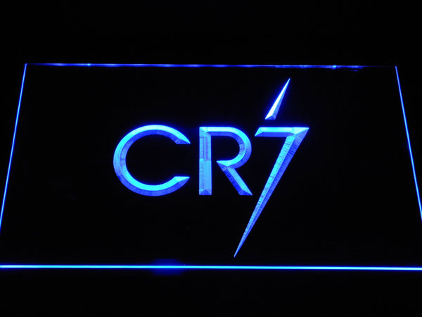 Real Madrid CF Cristiano Ronaldo CR7 LED Neon Sign b1071 - Blue