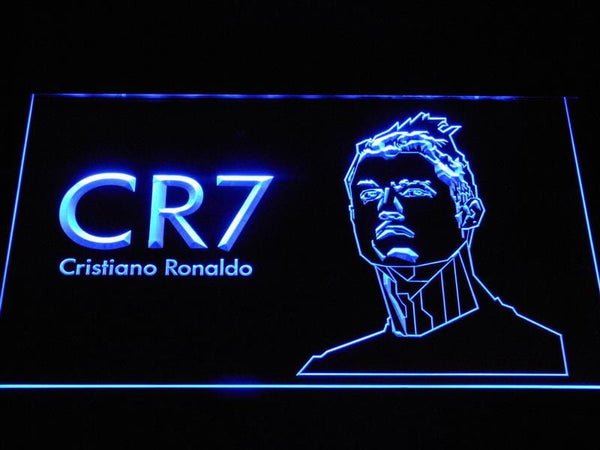 Real Madrid CF Cristiano Ronaldo LED Neon Sign b1072 - Blue