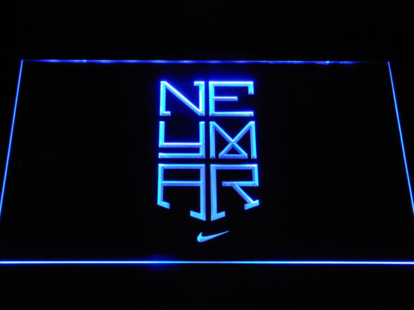 FC Barcelona Neymar Logo LED Neon Sign b1073 - Blue