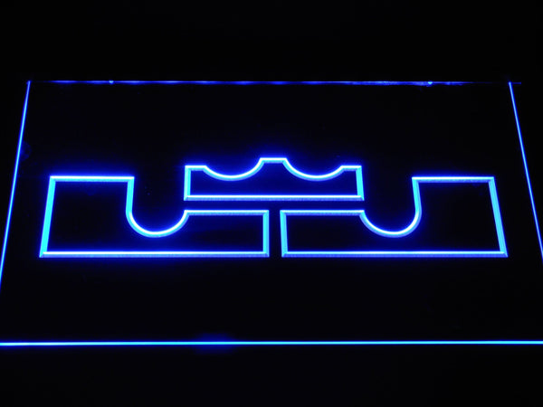 Cleveland Cavaliers Lebron James Logo LED Neon Sign b1086 - Blue
