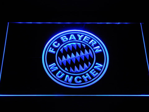 FC Bayern Munchen Crest Bundesliga LED Neon Sign b1088 - Blue