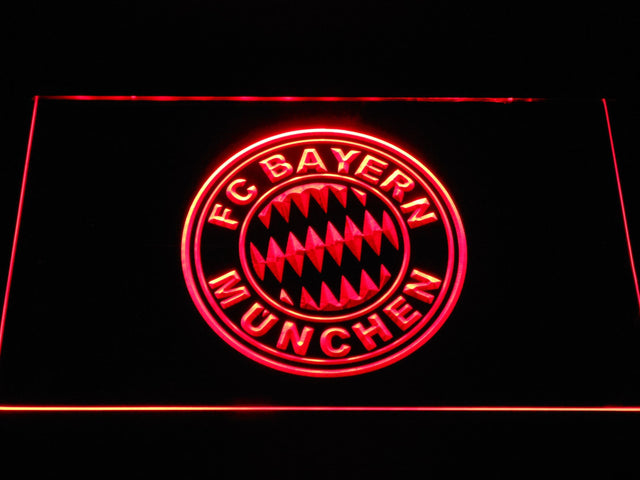 FC Bayern Munchen Crest Bundesliga LED Neon Sign b1088 - Red