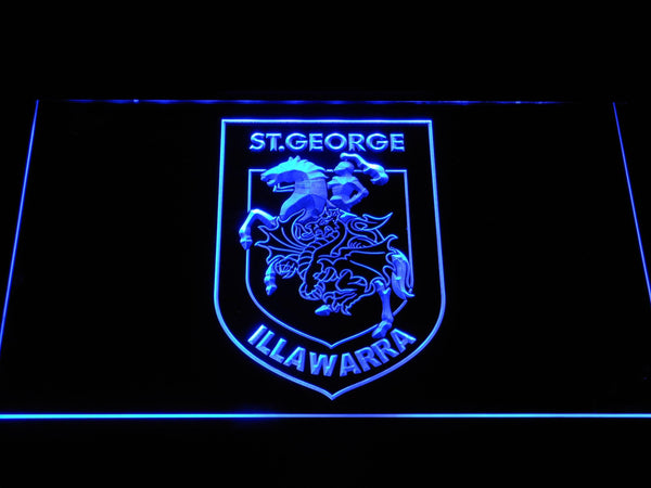 St. George Illawarra Dragons Rugby LED Neon Sign b1096 - Blue