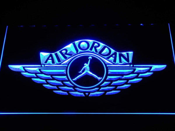 Air Jordan Wings LED Neon Sign b1098 - Blue
