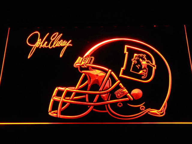 Denver Broncos John Elway Signature LED Neon Sign b1111 - Orange