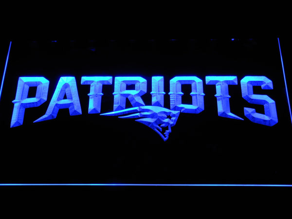 New England Patriots Wordmark LED Neon Sign b1123 - Blue