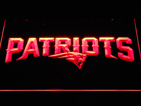 New England Patriots Wordmark LED Neon Sign b1123 - Red