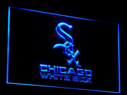Chicago White SOX Baseball LED Neon Sign b114 - Blue