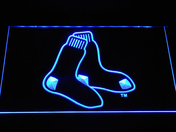 Boston Red SOX Sock LED Neon Sign b1161 - Blue