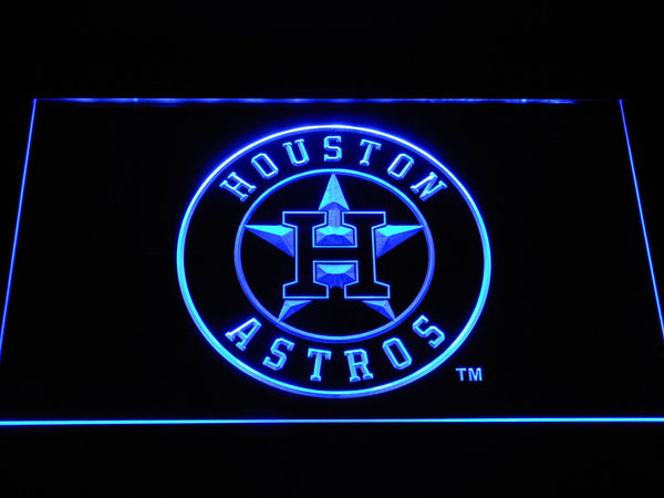 Houston Astros Baseball LED Neon Sign b1165 - Blue