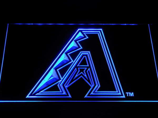 Arizona Diamondbacks A Logo Baseball LED Neon Sign b1172 - Blue