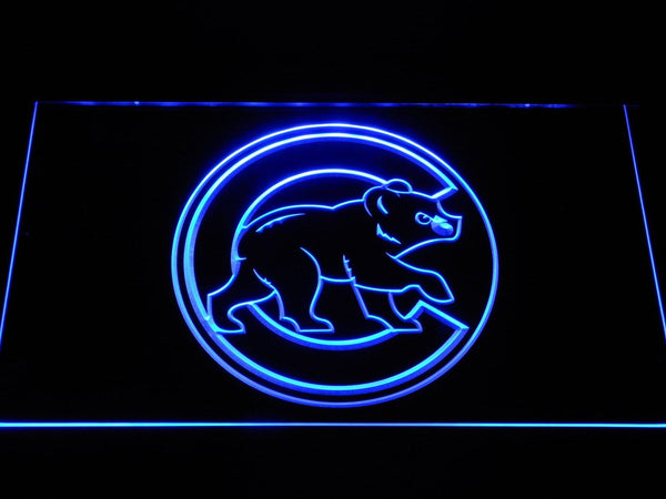 Chicago Cubs Walking Cub MLB LED Neon Sign b1173 - Blue