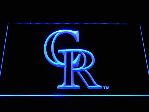 Colorado Rockies CR LED Neon Sign b1178 - Blue