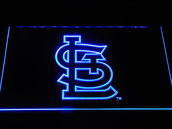 St. Louis Cardinals Stl MLB LED Neon Sign b1187 - Blue