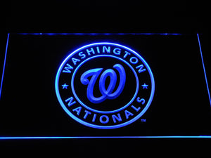 Washington Nationals Baseball LED Neon Sign b1188 - Blue