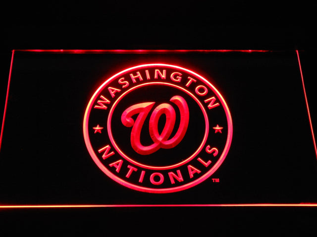 Washington Nationals Baseball LED Neon Sign b1188 - Red