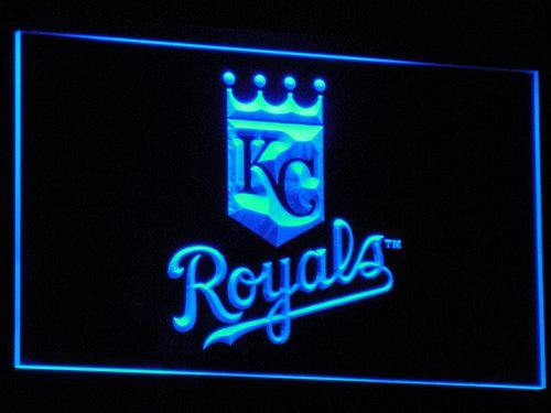 Kansas City Royals Baseball Club Bar  LED Neon Sign b118 - Blue