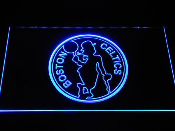 Boston Celtics Silhouette LED Neon Sign b1190 - Blue