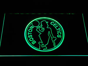 Boston Celtics Silhouette LED Neon Sign b1190 - Green