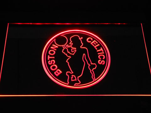 Boston Celtics Silhouette LED Neon Sign b1190 - Red