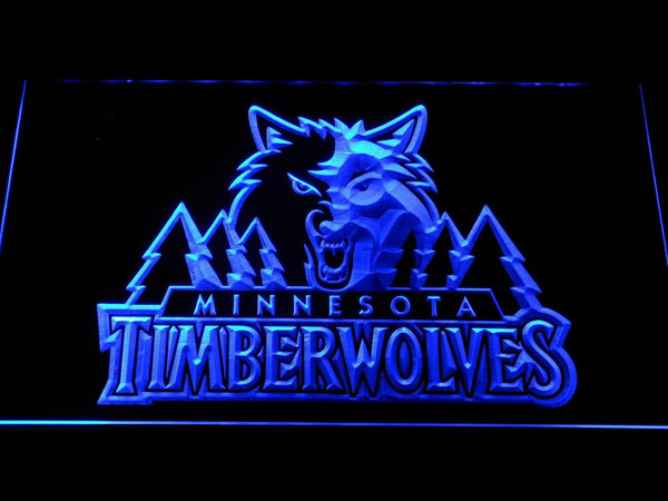 Minnesota Timberwolves Basketball LED Neon Sign b1206 - Blue