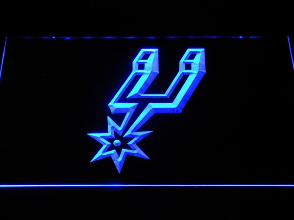 San Antonio Spurs Spur Icon LED Neon Sign b1215 - Blue
