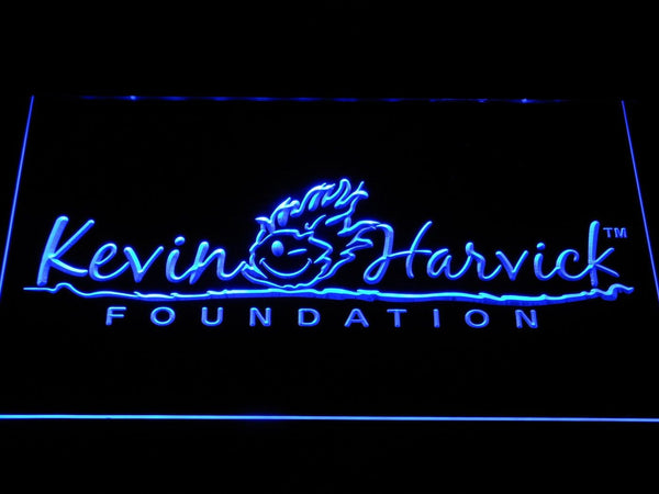 Kevin Harvick Foundation Nascar LED Neon Sign b1222 - Blue