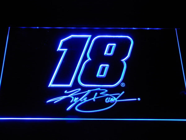 Kyle Busch Signature 18 LED Neon Sign b1224 - Blue