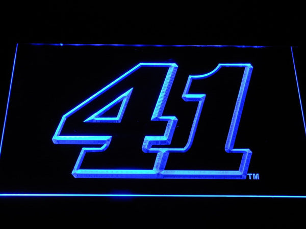 Kurt Busch 41 Nascar LED Neon Sign b1229 - Blue