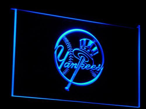 New York Yankees Baseball LED Neon Sign b122 - Blue