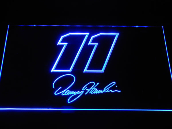 Denny Hamlin Signature 11 LED Neon Sign b1230 - Blue