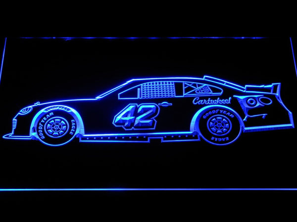 Kyle Larson Race Car LED Neon Sign b1233 - Blue