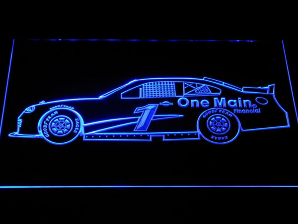Elliott Sadler Race Car LED Neon Sign b1238 - Blue