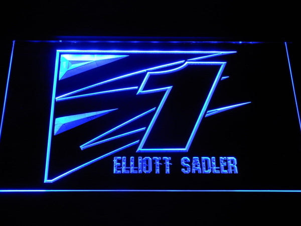 Elliott Sadler 1 Nascar LED Neon Sign b1239 - Blue