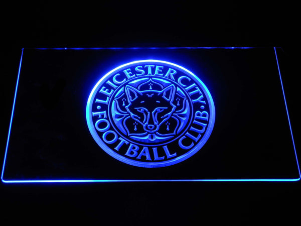 Leicester City FC LED Neon Sign b1248 - Blue