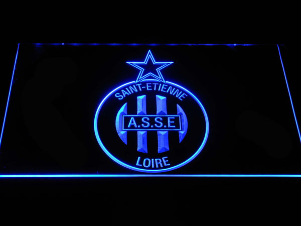 AS Saint-Etienne Football LED Neon Sign b1265 - Blue