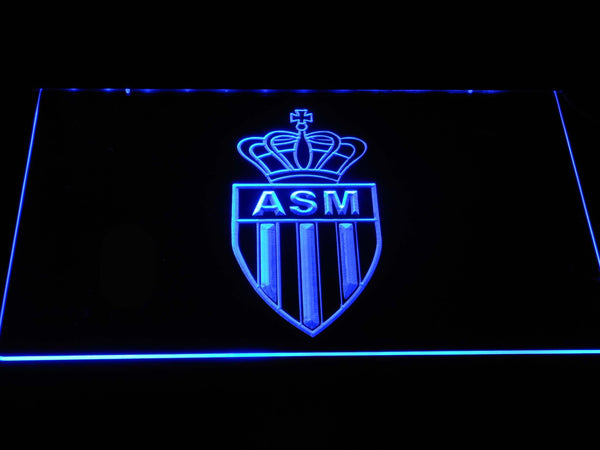 AS Monaco FC EFL LED Neon Sign b1266 - Blue