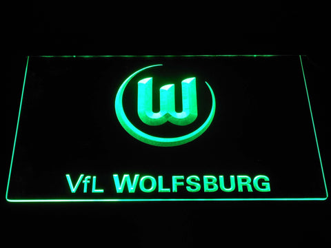 Vfl Wolfsburg Football Bundesliga LED Neon Sign b1283 - Green