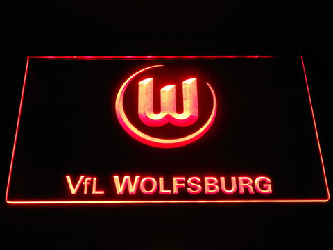 Vfl Wolfsburg Football Bundesliga LED Neon Sign b1283 - Red