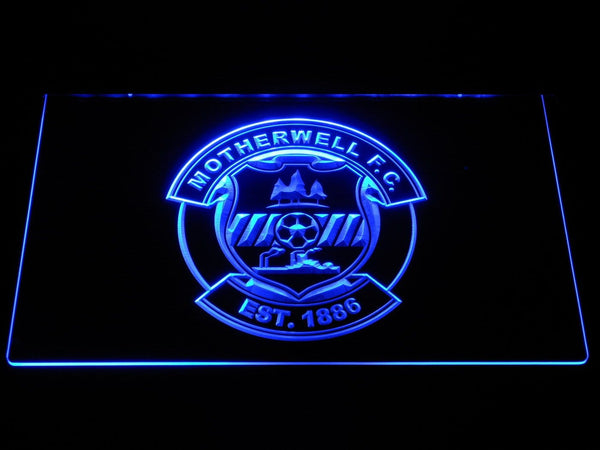 Motherwell FC Football LED Neon Sign b1307 - Blue