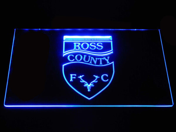 Ross County FC Football LED Neon Sign b1309 - Blue