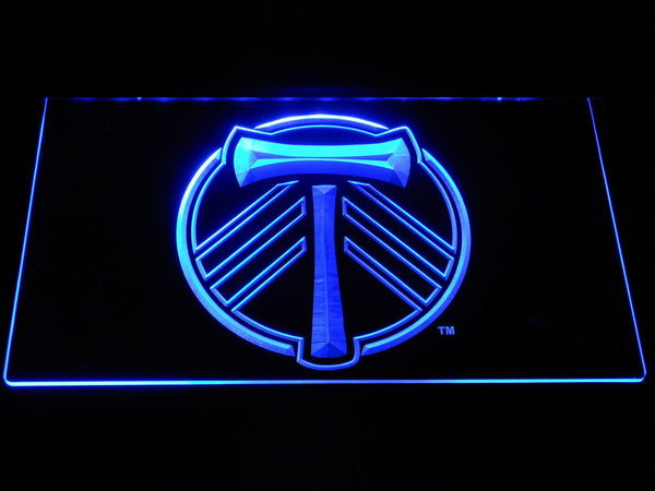 Portland Timbers FC Football LED Neon Sign b1323 - Blue