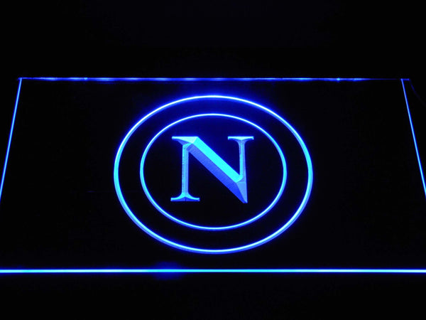 S.S.C. Napoli Football LED Neon Sign b1358 - Blue