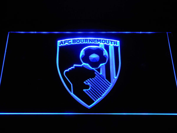 AFC Bournemouth FC Football LED Neon Sign b1366 - Blue