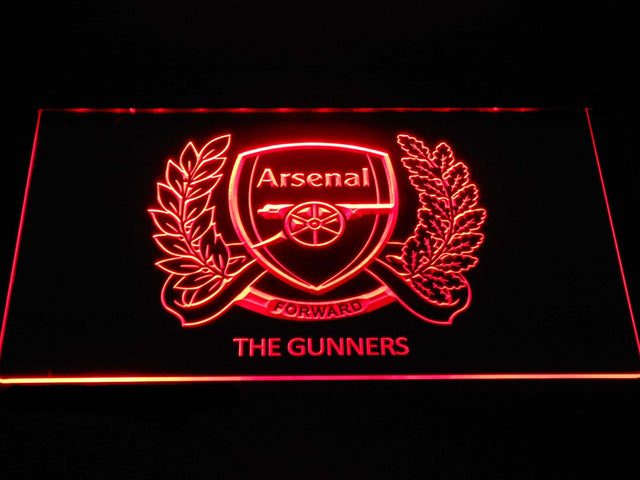 Arsenal F.C. 125th Anniversary Logo LED Neon Sign b1367 - Red