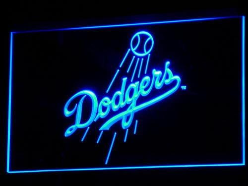 Los Angeles Dodgers Baseball LED Neon Sign b136 - Blue